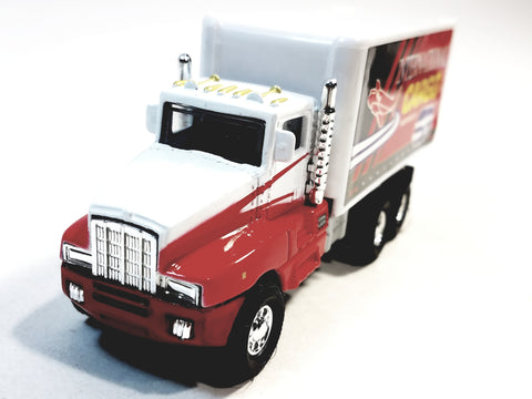 Showcasts Red & White International Cargo Services Box Truck 1/48 Scale Diecast Truck