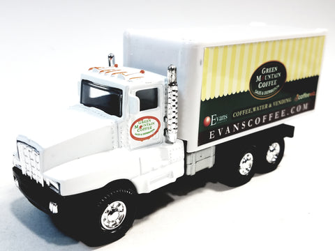 Showcasts Green Mountain Coffee International Box Truck 1/48 Scale Diecast Truck