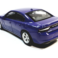 Welly Dodge Charger R/T Blue 2016 Hard Top 1/38 O Scale Diecast Car
