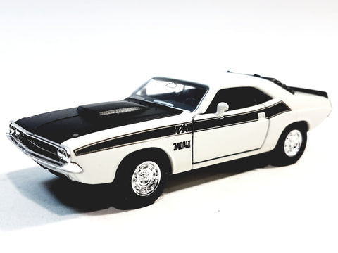 Welly Dodge Challenger Trans Am 1970 White Hard Top 1/38 O Scale Diecast Car