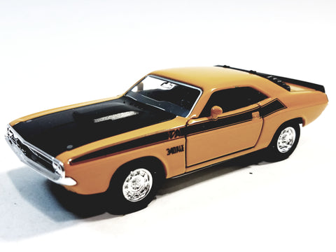 Welly Dodge Challenger Trans Am 1970 Mustard Yellow Hard Top 1/38 O Scale Diecast Car