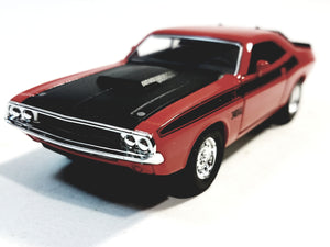 Welly Dodge Challenger Trans Am 1970 Fire Red Hard Top 1/38 O Scale Diecast Car