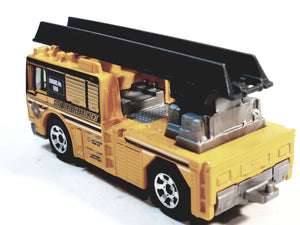 Matchbox Limited Yellow City Fire Department Engine 1/64 S Scale Diecast Truck