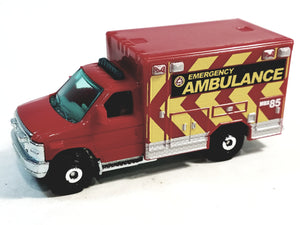 Matchbox Limited Red Fire Department Emergency Ambulance 1/64 S Scale Diecast Truck