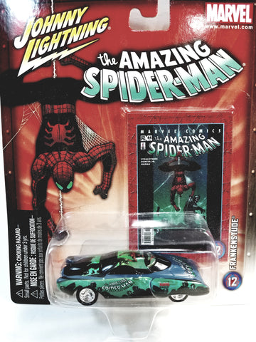 Johnny Lightning The Amazing Spiderman Green Frankenstude Collectors Edition 1/64 Scale Diecast Car