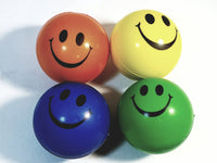 Emoji Smiley Face  Set Of 4 Different Color  Bouncing Spongeballs