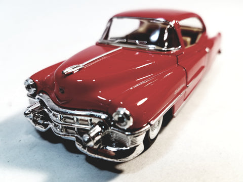 Kinsmart Cadillac Series 62 1953 Cherry Red 2 Door Coupe 1/43 O Scale Diecast Car