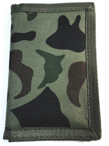 Camouflage Green & Black (3)Tri-Fold Wallet