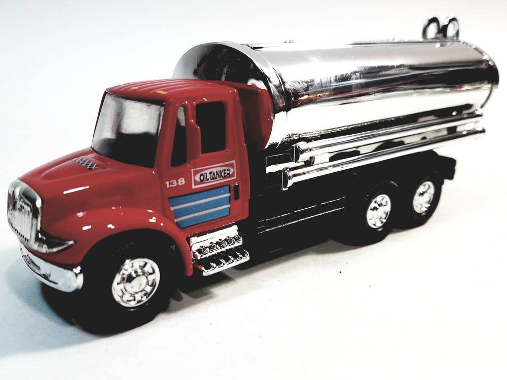 Showcasts International Red Transport Silver Oil Tanker 5