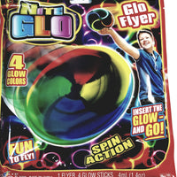Nite Glow Glow in The Dark Lited 4 Color Frisbee Flying Disc