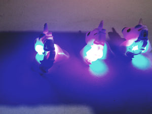 Unicorn Complete Set Of 3 Light Up Rings (Pink Purple Blue)
