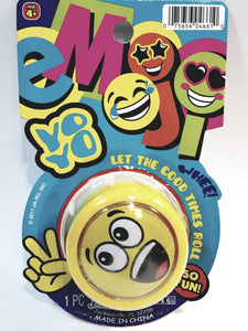 Emoji Yellow Shouting Face Yo-Yo Retro Toy