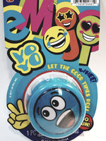 Emoji Blue Shouting Face Yo-Yo Retro Toy