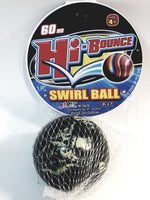 Hi-Bounce 60mm Swirl Black & White Marble High Bounce Ball In/Outdoor Toy