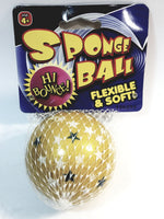 Hi-Bounce 65mm Gold With Blue & White Stars High Bounce Ball In/Outdoor Toy
