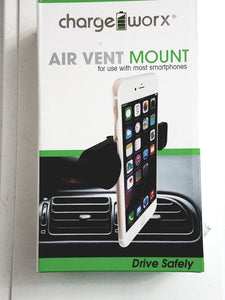 ChargeWorx Universal Air Vent Mount (Clamp Type)  Fits Most Smartphones
