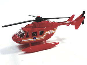 Daron FDNY Fire Dept Land & Sea Rescue Amphibian Helicopter 1/64 S Scale Emergency Diecast