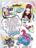 One Love Purple Unicorn Encased In Pink Color Slime Toy