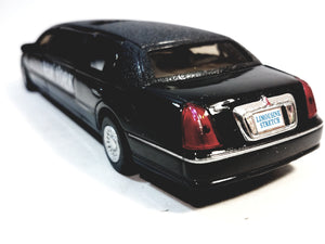 Kinsmart Ford Limousine Lincoln Town Car 1999 Black NEW YORK Stretch Limo 1/38 Diecast