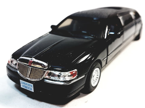 Kinsmart  Ford Limousine Lincoln Town Car 1999 Black Stretch Limo 1/38 O Scale Diecast