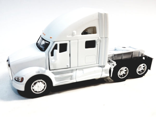Kinsmart White Kenworth T700 Tractor 1/68 S Scale Commercial Diecast Truck