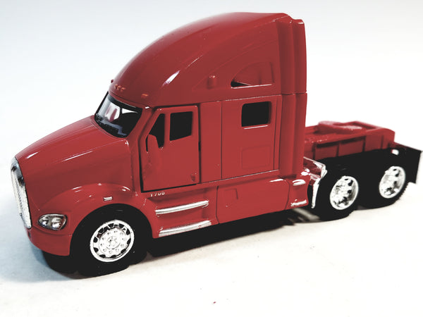 Kinsmart Kenworth T700 Red Tractor 1/68 S Scale Commercial Diecast Truck