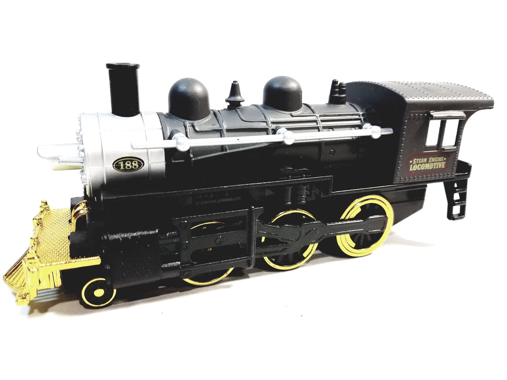 SF Toys Classsic Black Gold & Silver #188 Steam Engine Locomotive 7