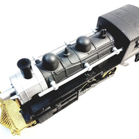 "SF Toys Classsic Black Gold & Silver #188 Steam Engine Locomotive 7"" Diecast Train"