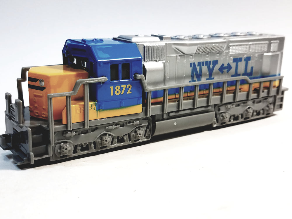 SF Toys Freight Loco NY To Illinois  #1872 Yellow,Blue & Gray Locomotive 7