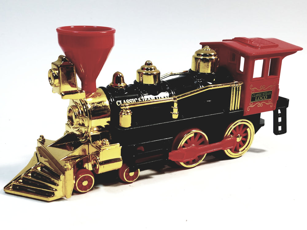 SF Toys Classsic Red Black & Gold Retro Steam Engine Locomotive 7