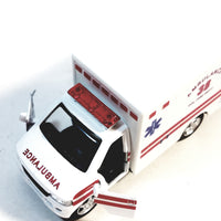 Kinsmart Ford E-350 EMS FIRE DEPT White Paramedic Ambulance 1/36 Scale New Yor...