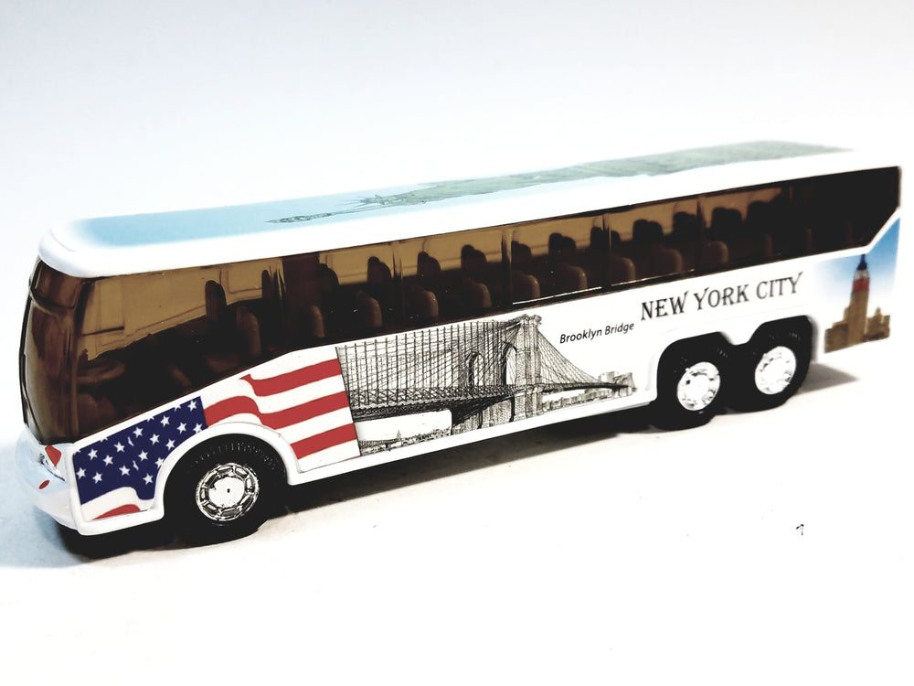 SF Toys NYC Coach Bus Statue Of Liberty / Bklyn Bridge / USS Intrepid New York City 6