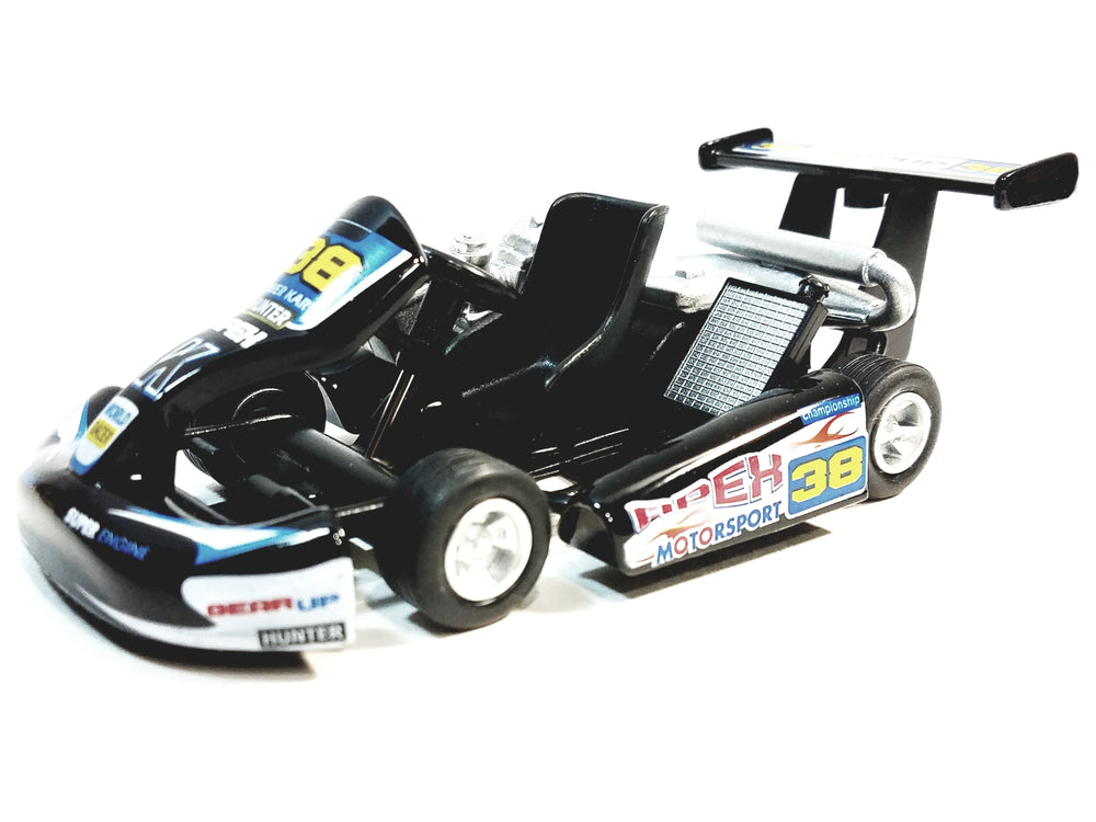 Kinsmart Black #38 Hunter Motorsport Turbo Go Kart 5