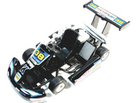 "Kinsmart Black #38 Hunter Motorsport Turbo Go Kart 5"" Diecast Vehicle"