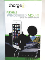 ChargeWorx Universal Flexible Windshield Mount Fits Most Smartphones
