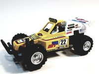 "Kinsmart Yellow #22 Hotrail Motorsport Turbo Suspension Buggy 5"" Diecast Vehicle w/ Figure"