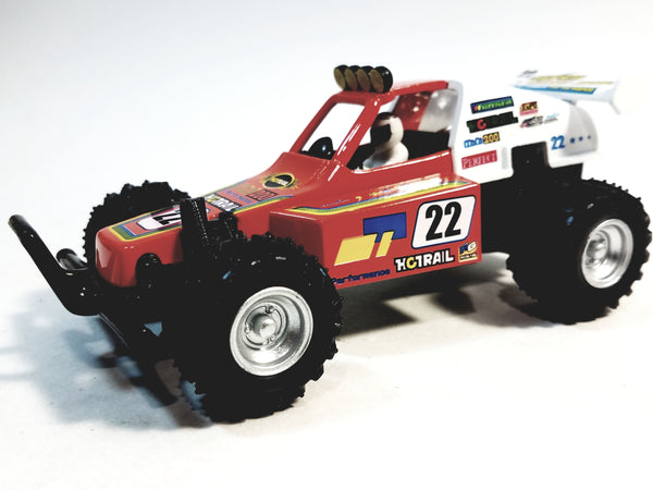 "Kinsmart Red #22 Hotrail Motorsport Turbo Suspension Buggy 5"" Diecast Vehicle w/ Figure"