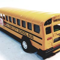 "SF Toys Classic Yellow Public New York City School Bus 5"" Diecast Commercial Passengr Vehicle"