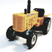 "SF Toys Yellow Power Farmall Tractor 4"" Ride-On Farm Vehicle 1/38 O Scale Diecast"