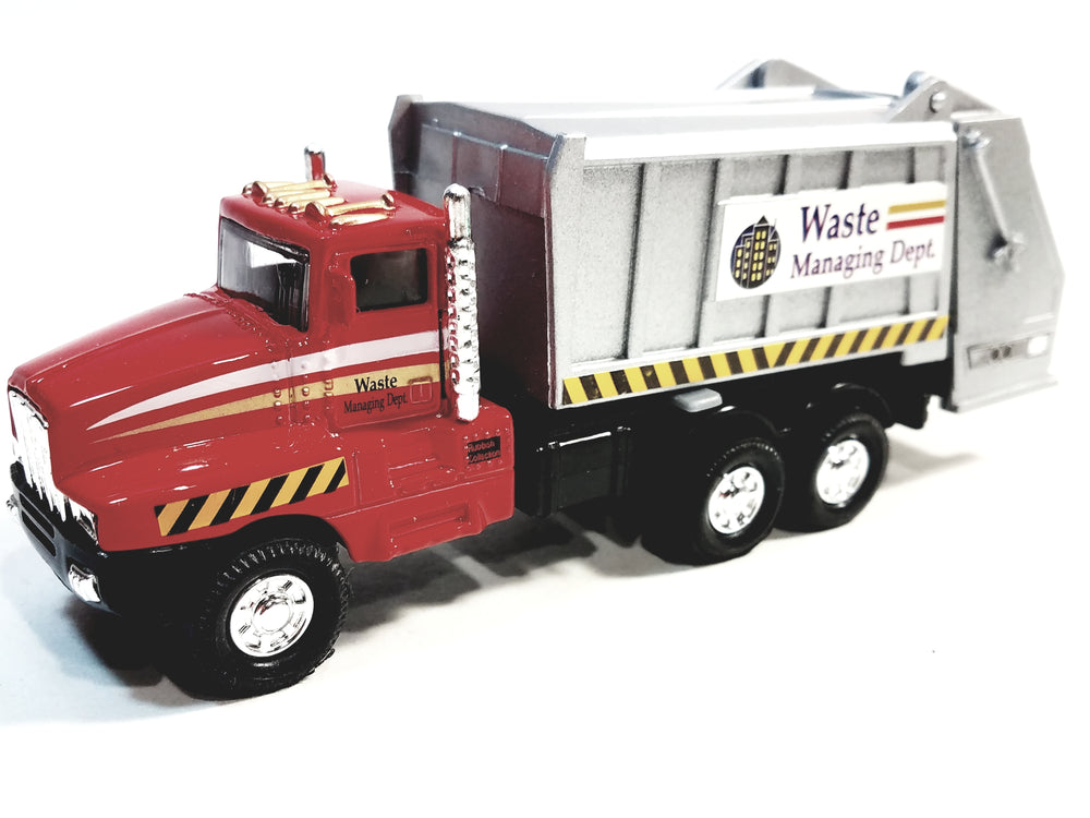 SF Toys Red Garbage Truck Recycle/Waste Management Dept 6