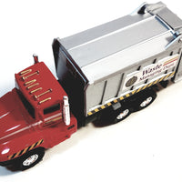 "SF Toys Red Garbage Truck Recycle/Waste Management Dept 6"" Diecast Commercial Vehicle"