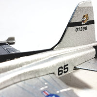 Showcast Silver Northrop F-5E Tiger II USAF Attack Jet Aircraft 1/100 Scale Diecast Plane
