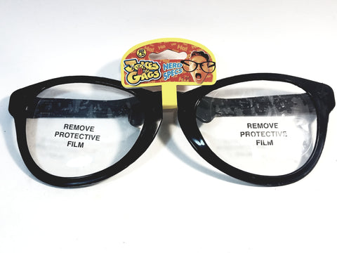 Gags & Jokes HUGE THICK NERD SPECS BLACK FRAME GLASSES FUNNY COSTUME Novelty