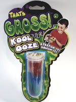 Thats's Gross Kool Ooze Stretchy Liquidy Red Blue & Green Slime 6oz In Beaker Containerf