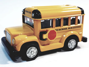 "SF Toys Classic Short Yellow Public City School Bus 4"" 1/48 Scale Diecast Commercial ..."