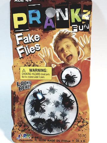 PRANKZ Fake Flies Set Of 10 Bug Fly Swarm Gag/Joke Novelty Fun Toy