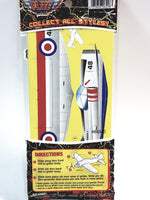 Flite Mites Prop Flyers Silver Mk 3 USAF & SilverAnd Red Spitfire Military 2 Pack Airplane Set