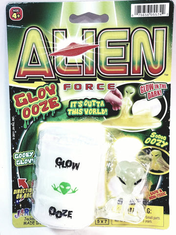 Alien Force Glow Ooze Glow In The Dark Slime & Alien Figure