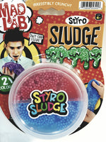 Dr Wacko Mad Lab Styro Sludge Cherry Red / Navy Blue 40g in 5oz Container of Goop Free Game