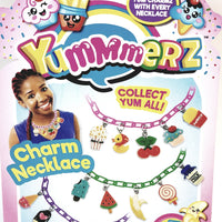 Yummmerz Cotton Candy Pink Charm Necklace & 5 Yum Charms Set with EZ Sizing